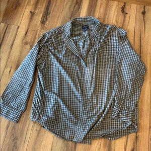 Men's XXL Sonoma flannel olive and white plaid